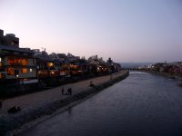 Evening on Kamogawa