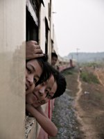 Train to Mawlamyine. Girls